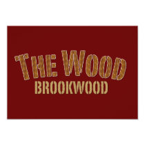 brookwood, broncos, high school, football, the wood, Invitation with custom graphic design