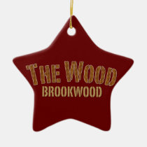 brookwood, broncos, high school, football, the wood, Ornament with custom graphic design