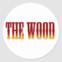 broncos,, the wood,, brookwood,, football,, basketball, Sticker with custom graphic design