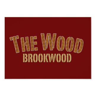 The Wood. Brookwood High School Broncos Nickname Personalized Announcements