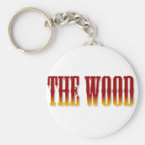 broncos,, the wood,, brookwood,, football,, basketball, Keychain with custom graphic design