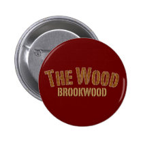 brookwood, broncos, high school, football, the wood, Button with custom graphic design