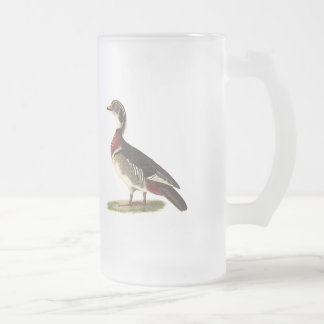 The Wood Duck(Anas sponsa) Frosted Glass Beer Mug