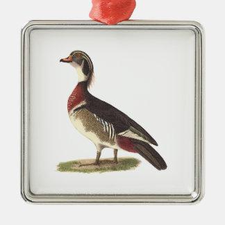 The Wood Duck(Anas sponsa) Metal Ornament