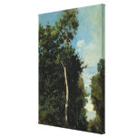 The Wood on the Cote de Grace in Honfleur Stretched Canvas Print