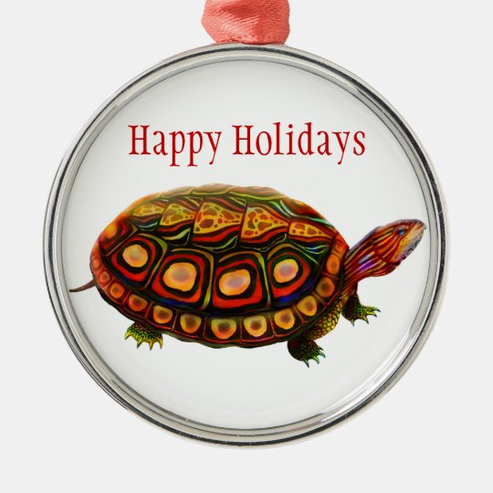 The Wood Turtle Customizable Ornament