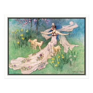 The Woodcutter's Daughter by Warwick Goble Postcard