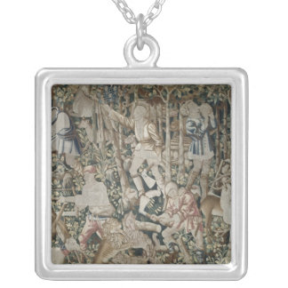 The Woodcutters, Tournai Workshop Square Pendant Necklace