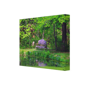 The Wooden Bench Photo Version Canvas Print