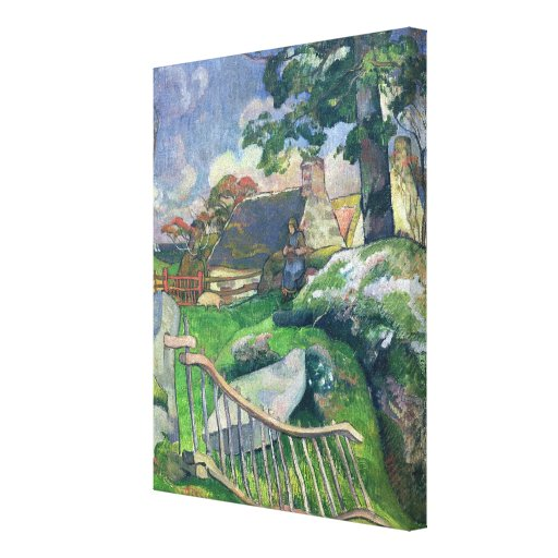 The Wooden Gate or, The Pig Keeper, 1889 Stretched Canvas Prints