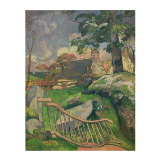 The Wooden Gate or, The Pig Keeper, 1889 Wood Wall Art