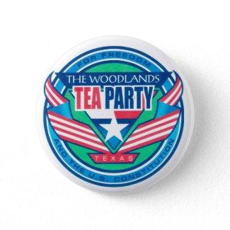 The Woodlands Tea Party Logo Button button