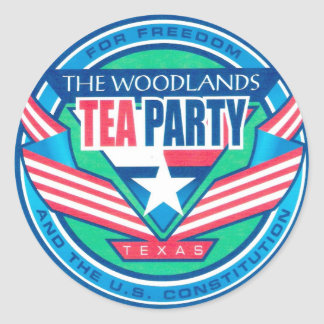 The Woodlands Tea  Party Logo Classic Round Sticker