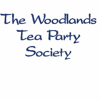 The Woodlands Tea Party Society polo shirt embroideredshirt