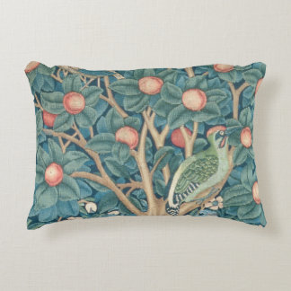 The Woodpecker Tapestry, detail of the woodpeckers Accent Pillow