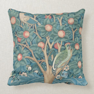 The Woodpecker Tapestry, detail of the woodpeckers Throw Pillow