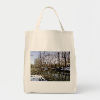 The Woods 3 Totebag Grocery Tote Bag