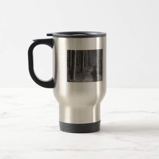 The woods are lovely, dark and deep 15 oz stainless steel travel mug