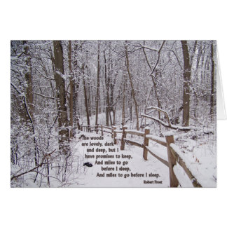 """""""The Woods Are Lovely"""" Encouragement Card Design Greeting Card"""