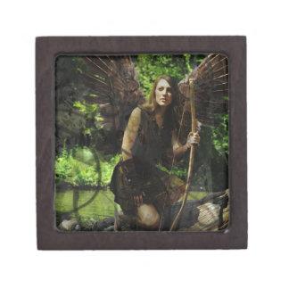 The Woods Huntress Archer Fairy Keepsake Box Premium Trinket Boxes
