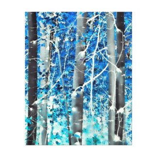 The Woods in a Dream Stretched Canvas Print