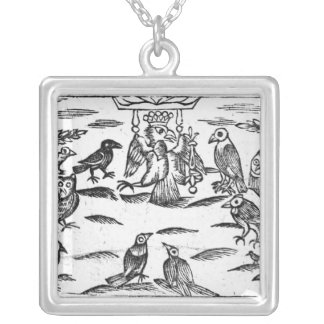 The Woody Choristers or The Birds Harmony Silver Plated Necklace