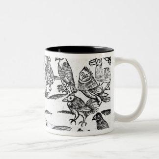 The Woody Choristers or The Birds Harmony Two-Tone Coffee Mug