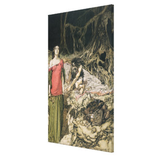 The Wooing of Grimhilde, the mother of Hagen Canvas Print