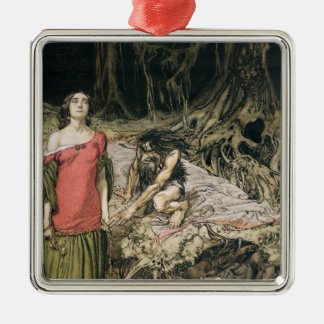 The Wooing of Grimhilde, the mother of Hagen Metal Ornament