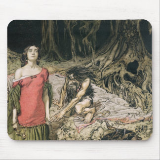 The Wooing of Grimhilde, the mother of Hagen Mouse Pad