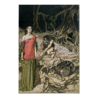 The Wooing of Grimhilde, the mother of Hagen Poster