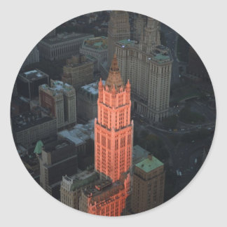 The Woolworth Building Classic Round Sticker