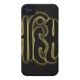 The word Ahimsa glowing in the dark Case-Mate iPhone 4 Case