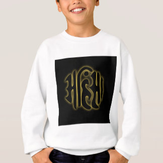 The word Ahimsa glowing in the dark Sweatshirt
