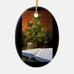 The Word at Christmas Double-Sided Oval Ceramic Christmas Ornament