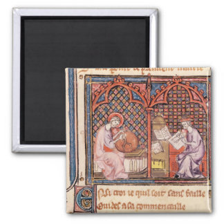 The Word, Creator of the World and The Author 2 Inch Square Magnet