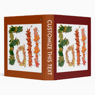 """The word """" Fall """" written in leaf graphics 3 Ring Binder"""