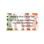 "The word "" Fall "" written in leaf graphics Personalized Address Label"