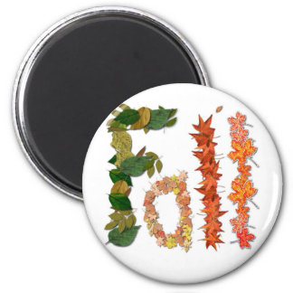 The word Fall written in leaf graphics Refrigerator Magnets