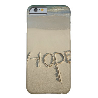 The word 'Hope' sand written on the beach with Barely There iPhone 6 Case