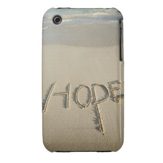 The word 'Hope' sand written on the beach with iPhone 3 Case