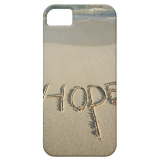 The word 'Hope' sand written on the beach with iPhone SE/5/5s Case
