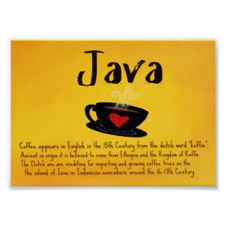 """The Word """"Java"""" Poster"""