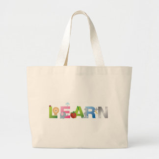 the word learn tote bag