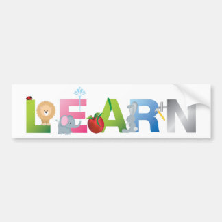 the word learn bumper stickers