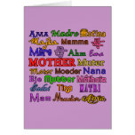 The Word Mother in Many Languages Greeting Card