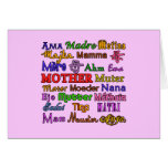The Word Mother in Many Languages Greeting Cards