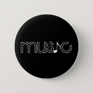 the word music pinback button
