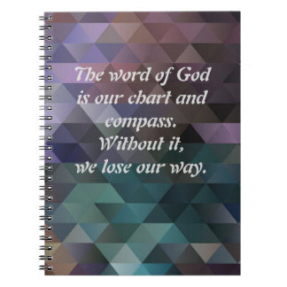 The Word of God Chart and Compass Prism Notebook