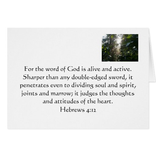 The Word Of God Greeting Card